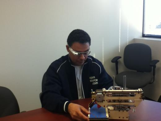 Luis Ibanez testing the Google Glass